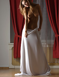 2009 mikhaila draped in white
