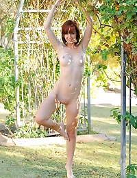 Hayden outside running around naked