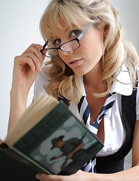 Secretary in Lingerie Student Holly Newberry
