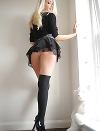 Secretary in Lingerie Student Lucy-Anne Brooks