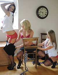 Secretary in Lingerie Students Candine Collyer and Friends