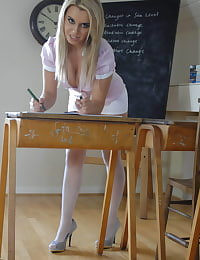Secretary in Lingerie Miss Michelle 2009 at St. Mackenzies School
