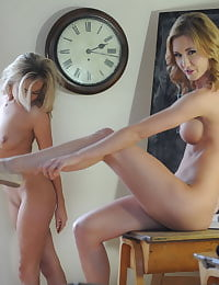 Secretary in Stockings Becky Roberts and Miss Sam in December 11
