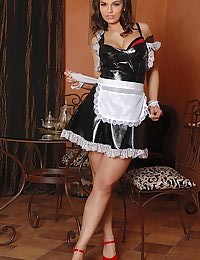 Horny Eve Angel in maid dress