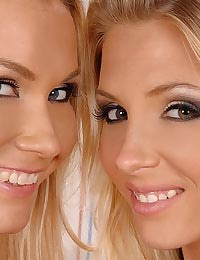 Hot blond babes in lesbian sex