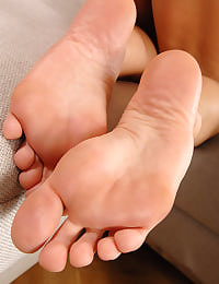 Footjob and fucking action
