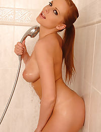 Shower time for busty Carmen