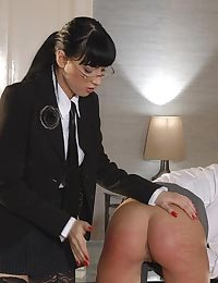Brunette loves being spanked