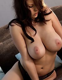 Gianna Michaels in tugs at her furry beaver