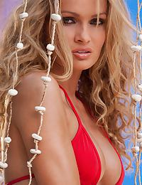 Prinzzess Sahara in gets ready for a swim at the beach