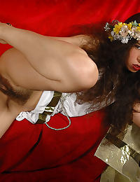 Messalina drinks wine ,introduce a big cucumber in her jucy vagina and much more