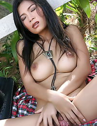Asian wang shui wen 04 cowgirl fingering vulva