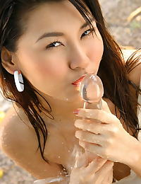 Asian lincy leaw 04 forest shower wet shirt
