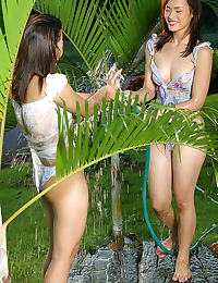 Asian girl girl emma mimie 03 water shower