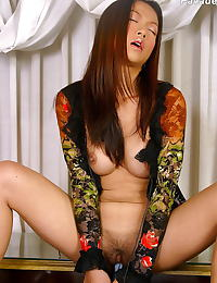 Asian pavadee 06 see through lingerie dildo
