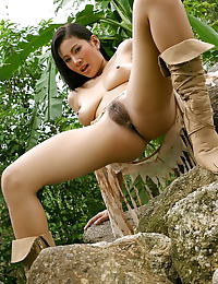 Asian nancy ho 07 forest spread legs