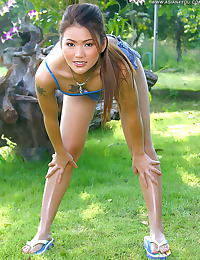 Asian cherry 12 sporty girl hairy cunt dildo