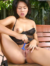 Asian gigie 06 negligee shaving pussy