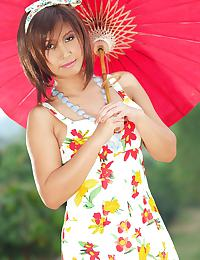 Big Breasts of Hanoi An picnic red parasol strip