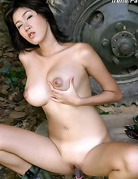 Asian irene fah a4y 01 army knife toy fucking