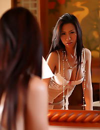 Asian jenna sun 03 negligee secretary lipstick