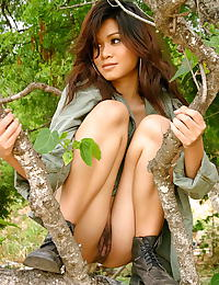 Asian amelia luv 13 hairy vagina army forest girl