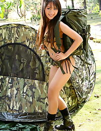 Asian emily chan 02 army bikini clit