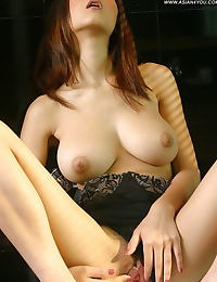 Asian natalia 20 lingerie bathroom vulva labia spread