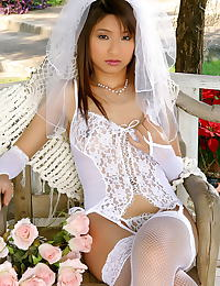 Asian annie bae 04 bride garter belt stocking bridal lingerie
