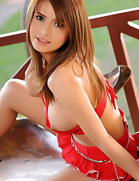 Asian kathy cheow 04 red dress perfect body