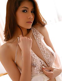 Asian natalia chai 06 sheer lingerie dildo