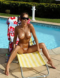 nataly 06 bottle fucking poolside tight snatch