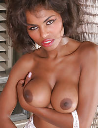 Hanging Tits in Bodystockings of Ebony Queen