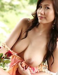 Busty Thai Rose Lydia Nitta Outdoor Strip