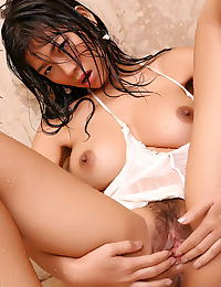 Asian wang shui wen 14 wet t shirt shower